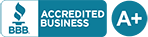 Better Business Bureau Accredited Business A+ Ranking
